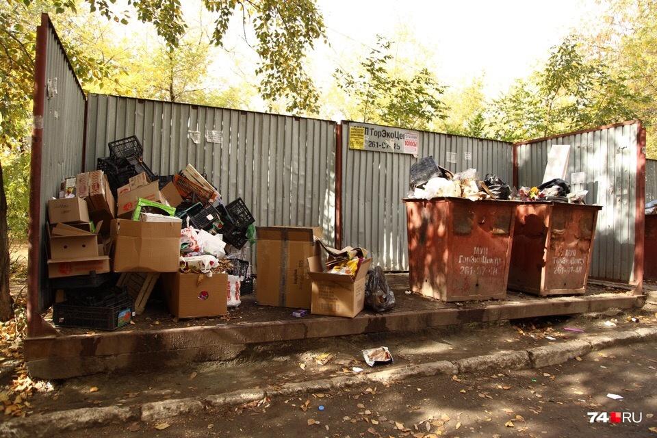 Байкальская, 15. По всей видимости, сюда приезжал мусоровоз пару дней назад<br>&nbsp;