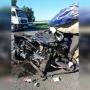«Автомобиль не узнать»: в Челябинской области легковушка залетела под грузовик