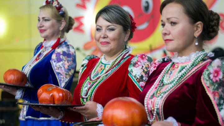 Пенсионер из Минусинска с внучкой вырастили помидор-гигант весом 1,6 кг и выиграли «Ниву»