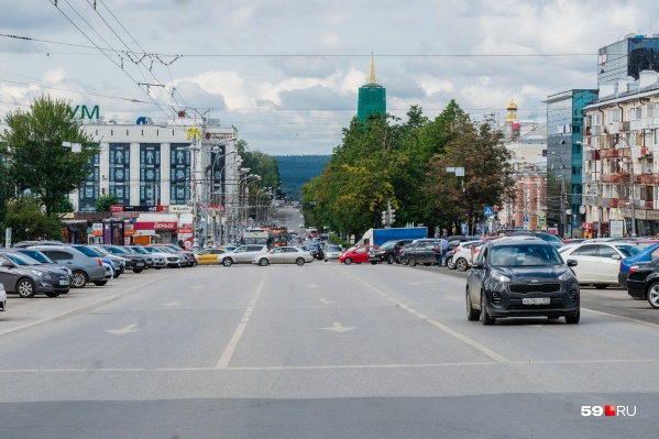 Комсомольский проспект — одна из главных улиц Перми