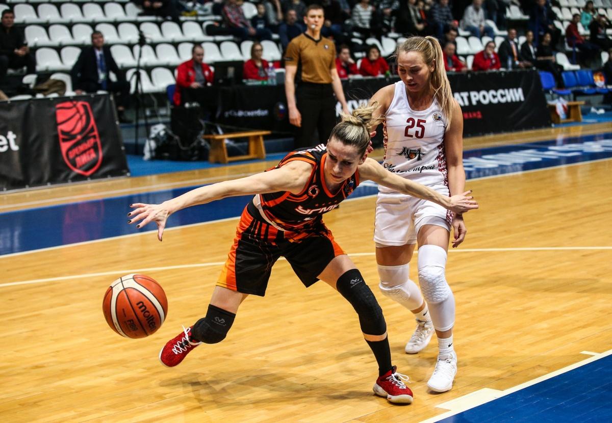 Баскетболистки УГМК одолели столичный клуб МБА на его паркете