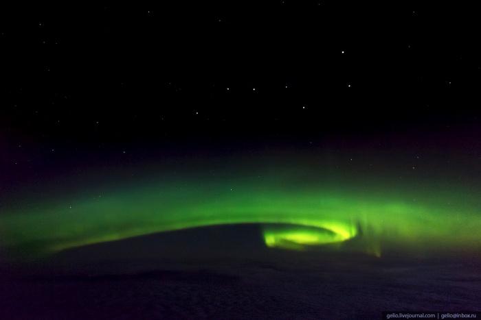 Северное сияние над Ямалом