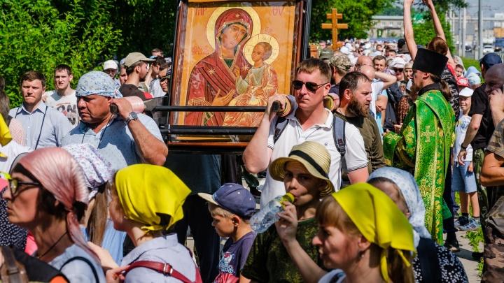 Путь займет неделю: по Перми прошел крестный ход до Белой горы