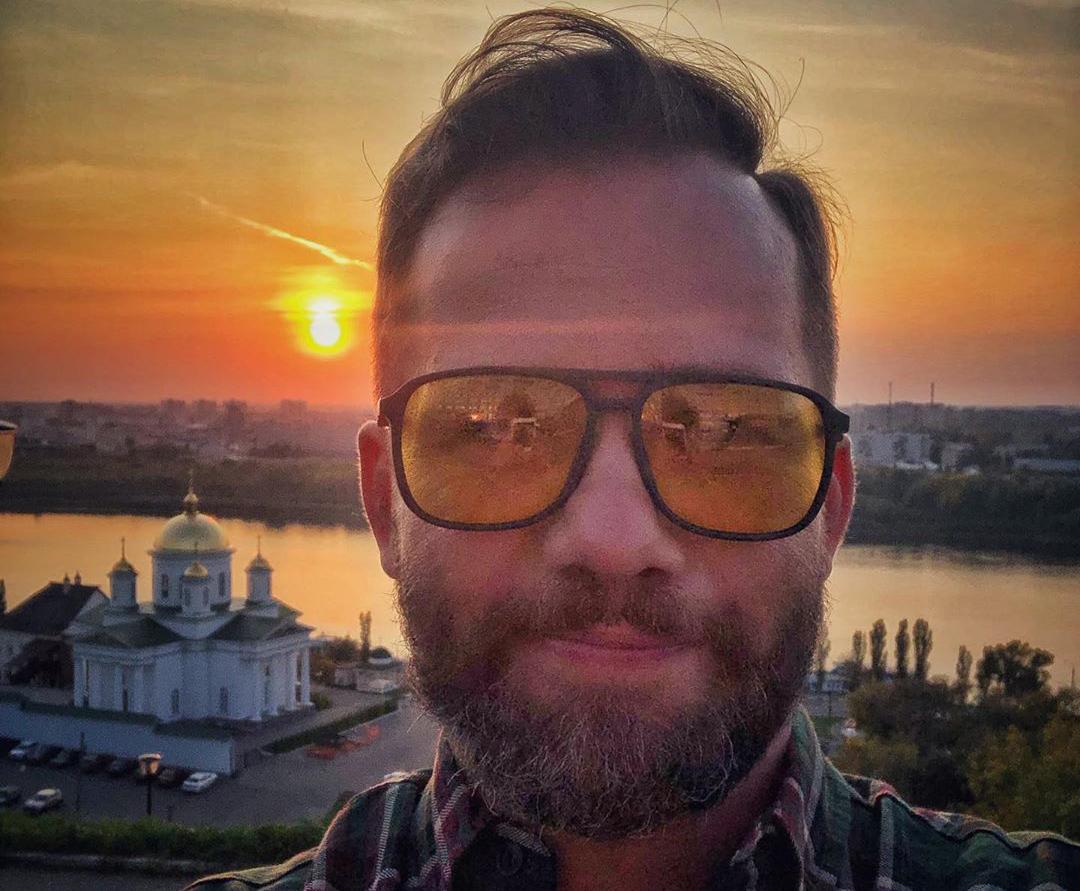 Селфи на фоне нижегородского заката