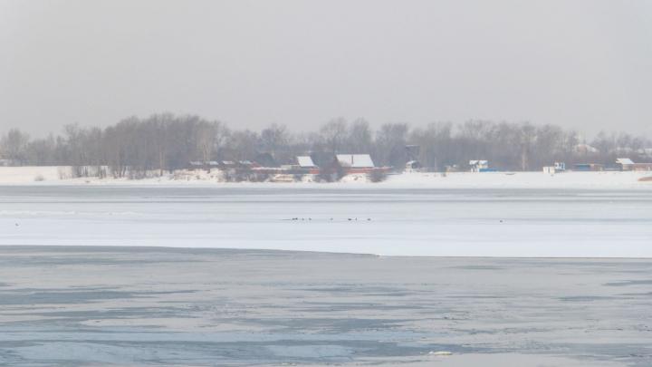 В Перми спасли трех рыбаков, вышедших на тонкий лед