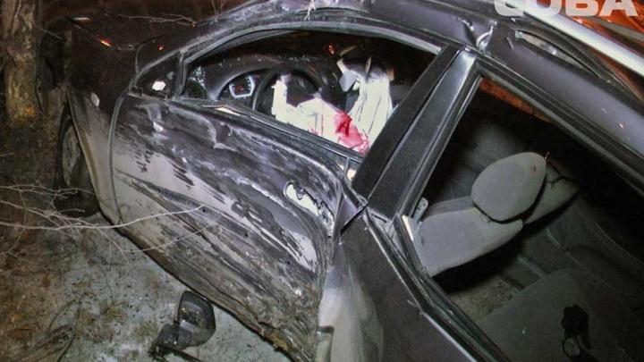 Водитель Chevrolet на Объездной влетел в дерево и получил травму глаза