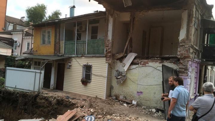 Мэрия: котлован рядом с обрушившимся в центре Ростова домом рыли без разрешения