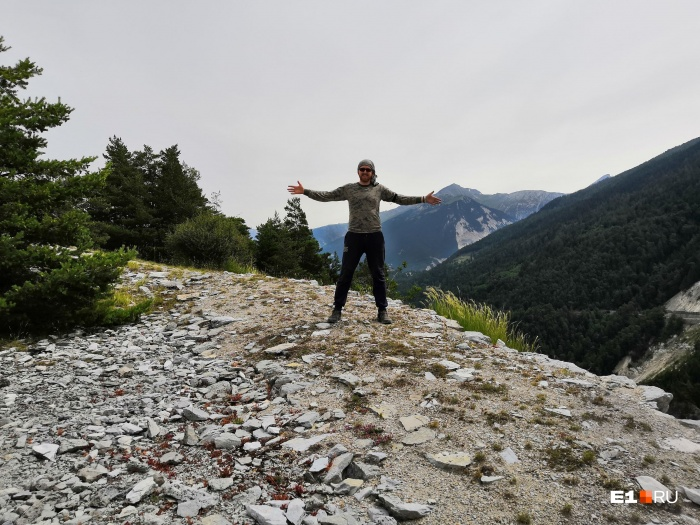 «Офигеть, я в Альпах!» — так Михаил подписал это фото