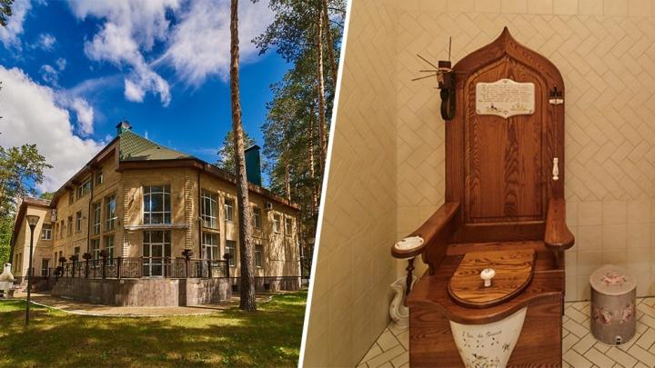 Трон-унитаз прилагается: под Челябинском выставили на продажу особняк за 80 миллионов