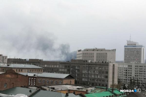 Дым видно даже в центре