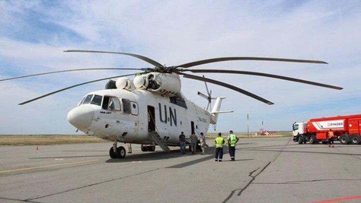 Самый большой в мире вертолет Ми-26Т приземлился в аэропорту Волгограда