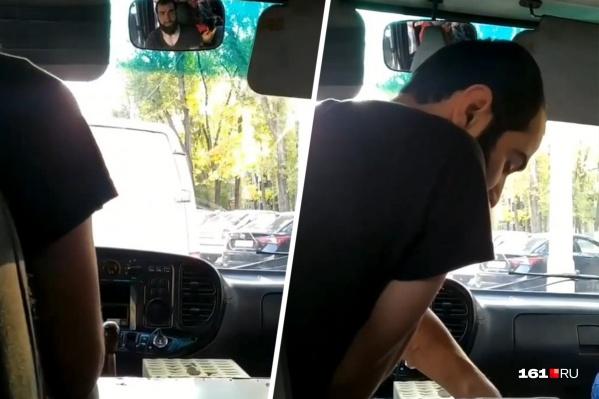 Ролик с водителем попал в социальные сети