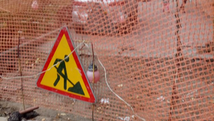 Новосибирцы пожаловались на разрушенный асфальт после ремонта теплотрассы