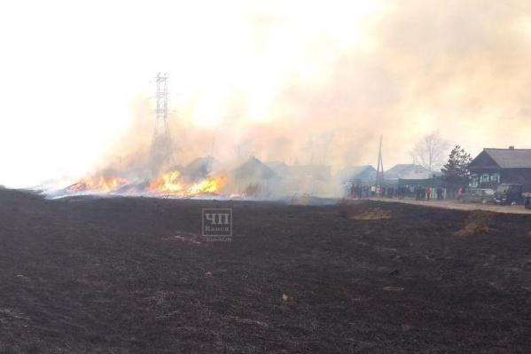 До этого полыхали пожары в Канске