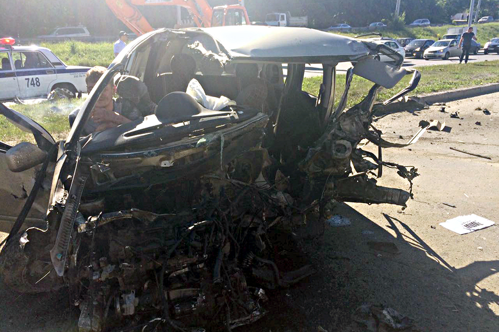 ВНовосибирском ДТП пострадали 2 водителя имолодая пассажирка