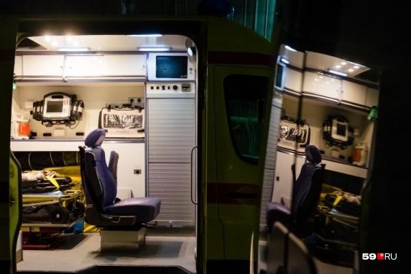 По дороге в окружную больницу Кудымкарамашина скорой помощи сломалась