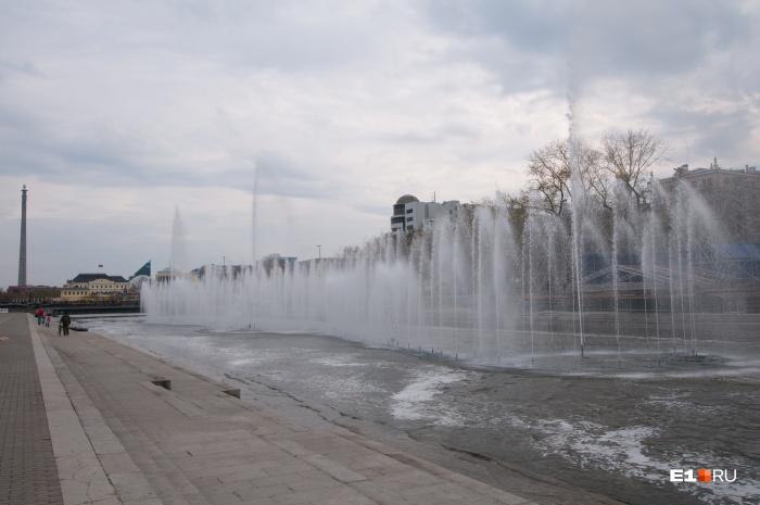 Сегодня в городе заработал поющий фонтан