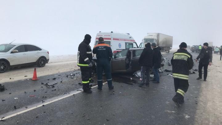 «Маршрутка вылетела на встречку»: один человек погиб и шесть пострадали в лобовом ДТП на трассе