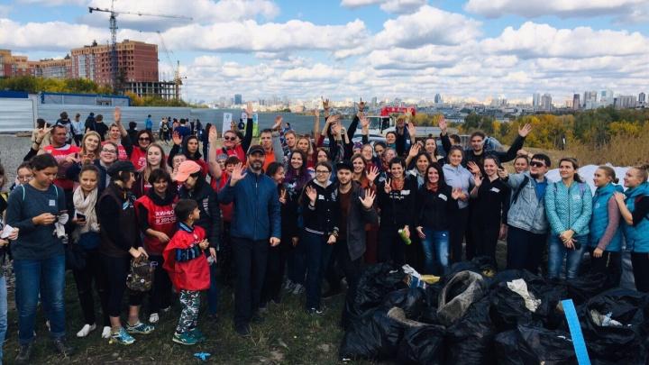 Новосибирцы собрали почти 400 мешков мусора около пляжа «Наутилус»