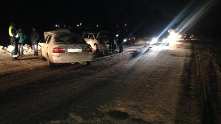 Две аварии случились на одном из участков Толмачёвской: пострадали три человека за четыре часа