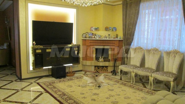 В Омске за 20 миллионов продают коттедж со шкурой рыси, каминным залом и бильярдной