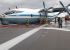 Камера наблюдения сняла аварийную посадку Ан-12 в Кольцово