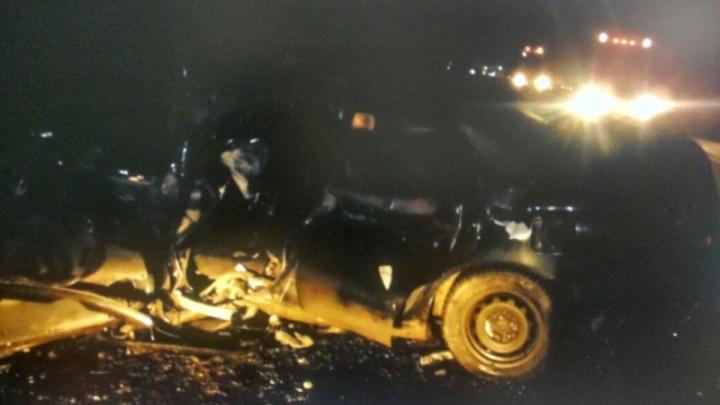 Водитель Toyota Carina погиб в ДТП под Новосибирском