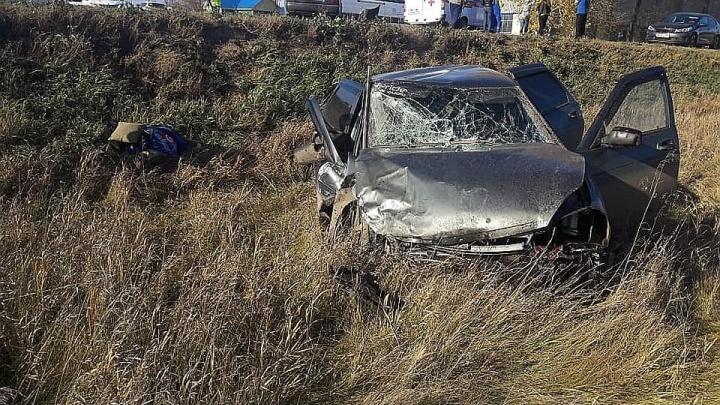 В БашкирииHyundai столкнулся с «Ладой»: 7 человек доставили в больницу