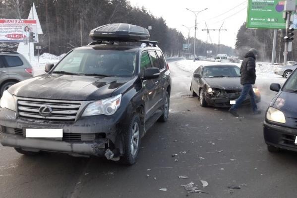 Авария произошла на въезде в Академгородок