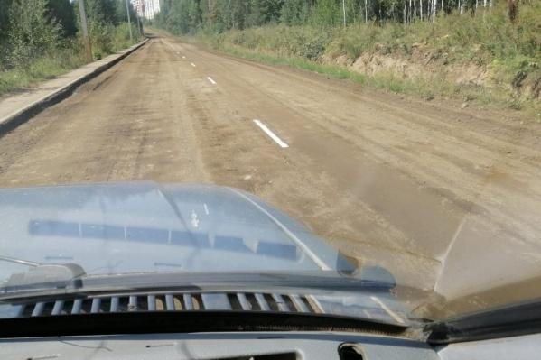 Разметка на грунтовой дороге