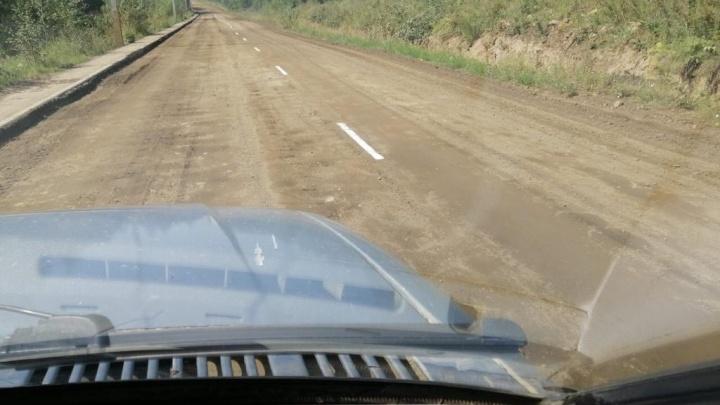 Дорожники объяснили, как разметка появилась на грунтовой дороге в Кодинске