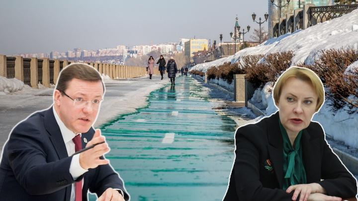 Азаров отправил мэра Самары гулять по набережной