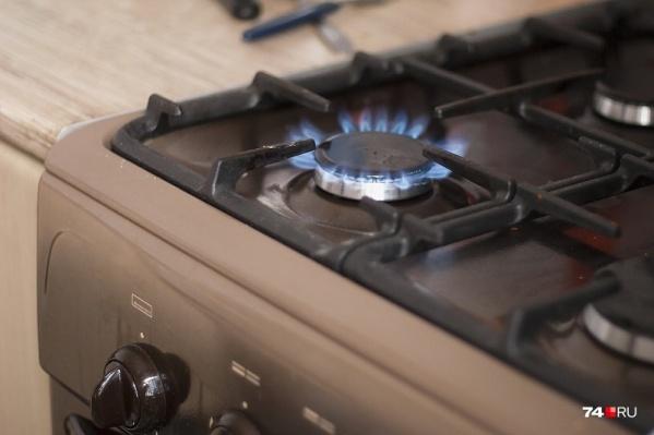 При подаче газа под давлением газовщики выявили утечку