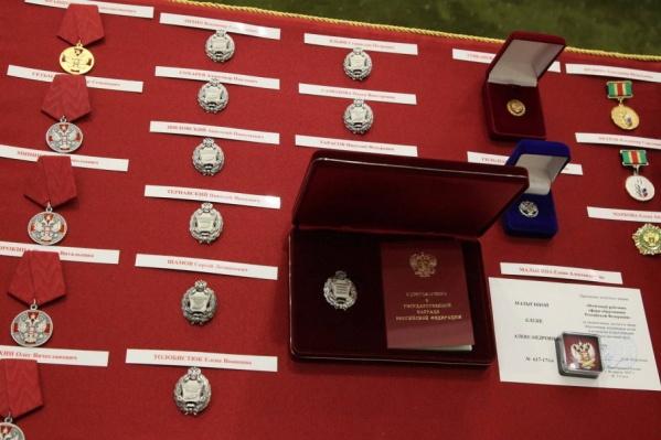 В закупке — 600 медалей к почетной грамоте губернатора и 100 нагрудных знаков за заслуги перед областью