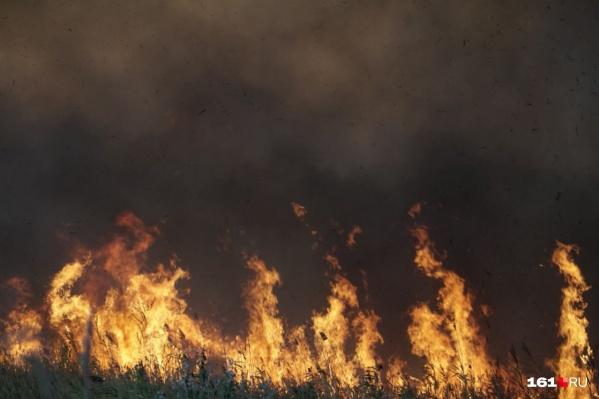 Пожарные борются с огнем уже пять часов