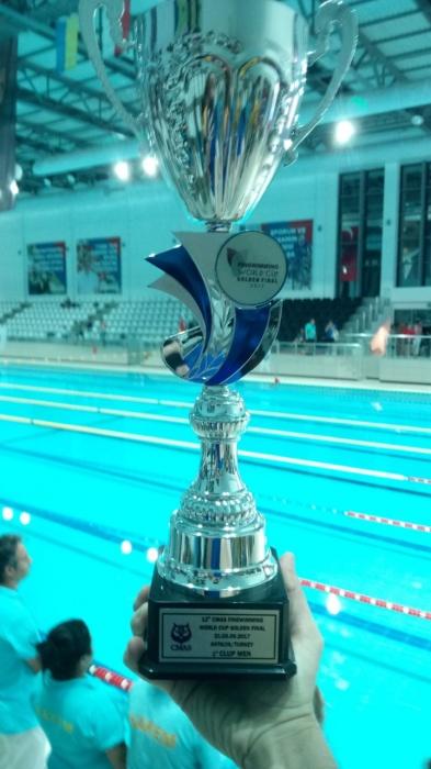 Кубок, который получили новосибирские спортсмены