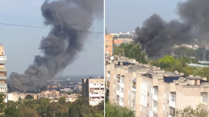 Дым столбом: в Самаре на Заводском шоссе горел ангар