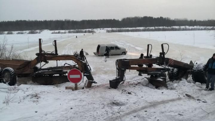 В Архангельской области заливают 39 транспортных ледовых переправ