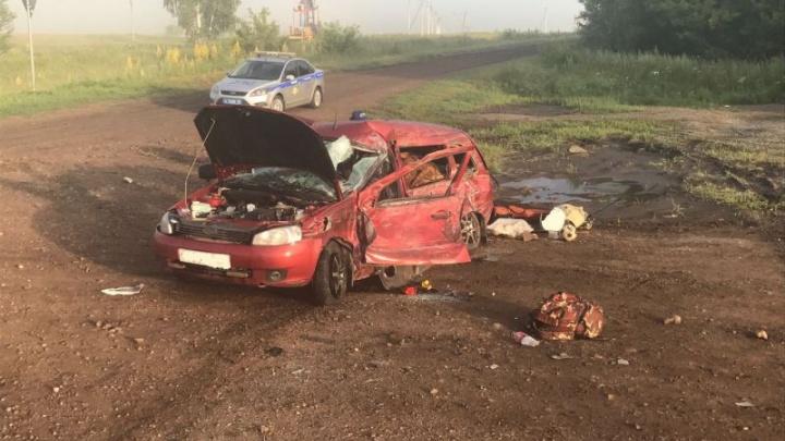 В страшной аварии на трассе в Башкирии погиб 11-летний ребенок