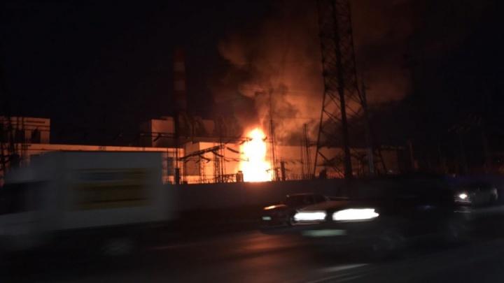 Пожар на ТЭЦ-2: взрыв оставил без света Ленинский район