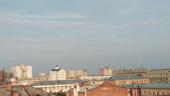 Красноярск застелила вонючая дымка