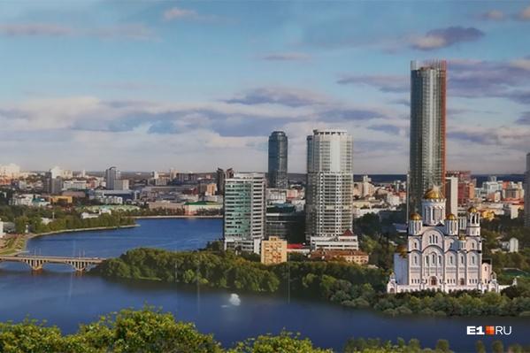 Так храм выглядел бы за Макаровским мостом, но эту площадку не включили в список