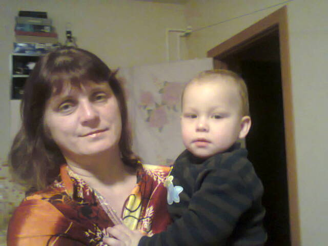 Елена Лемле с внуком Антоном