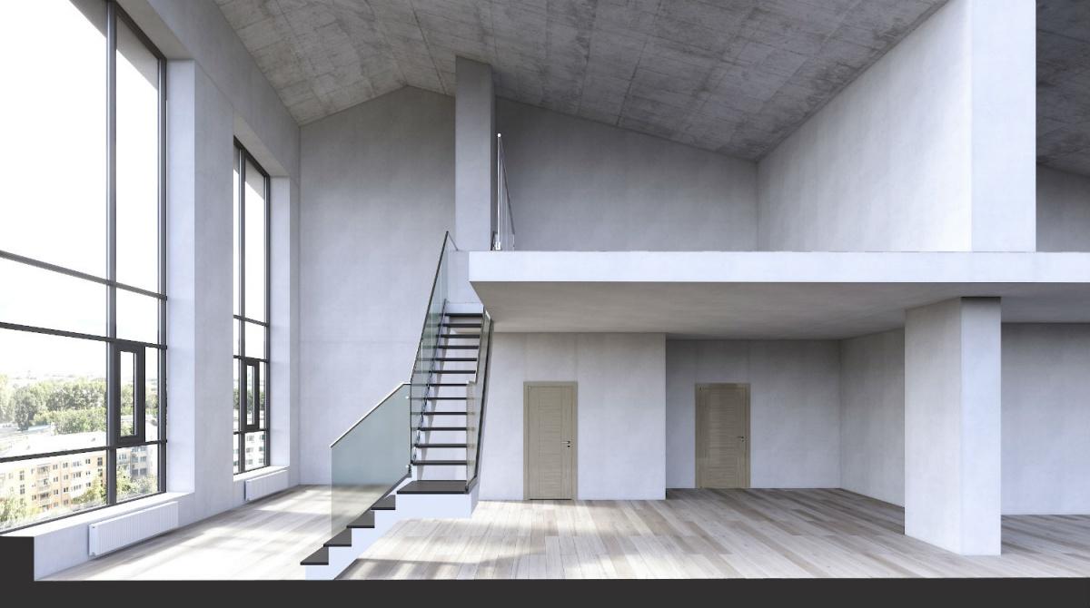 Есть и квартиры со вторым светом, где высота потолков — от 5,8 до 8 метров
