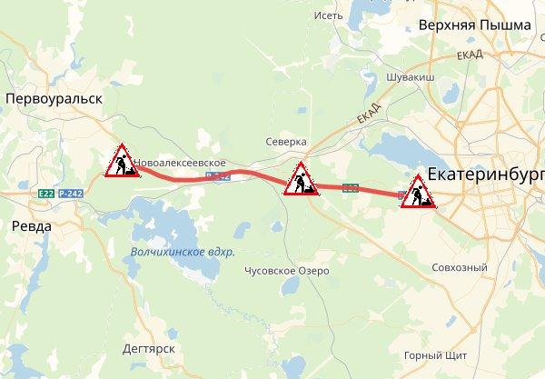 Движение ограничатс 343-го по 352-й километр