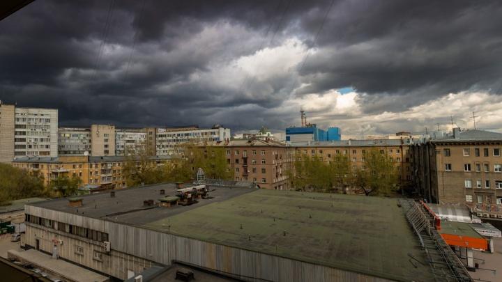 Штормовое предупреждение: в Новосибирск идут грозы с градом