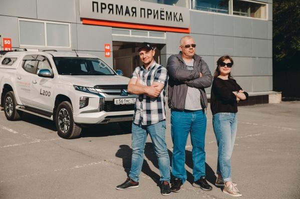 Наши путешественники. Слева направо: Семён Громов, Андрей Лопатский,Мария Шевелёва