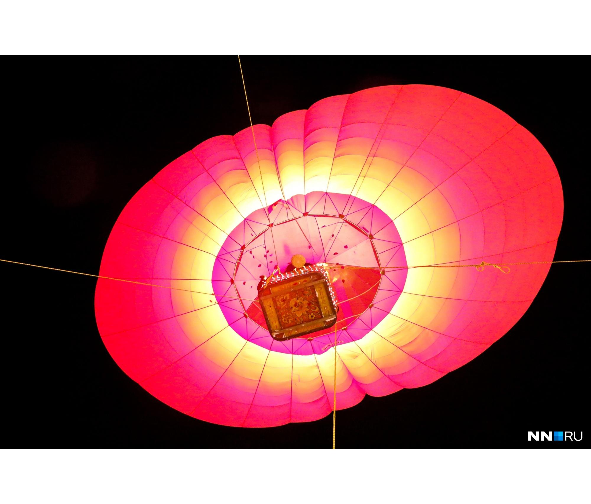 Вчера была отличная погода, поэтому всех желающих без проблем поднимали на воздушном шаре