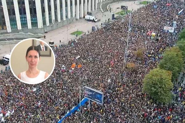 Красноярская активистка о массовых политических митингах