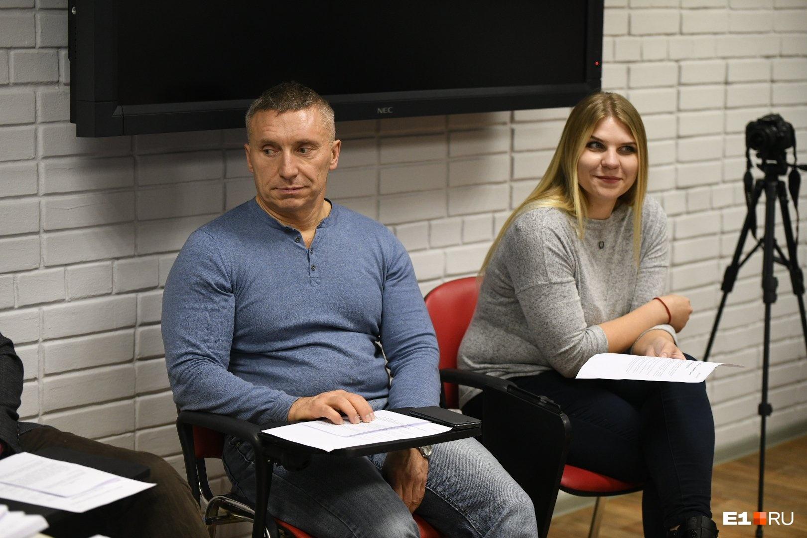Экс-депутат Дмитрий Головин и Екатерина Петрова